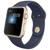 Apple Watch Sport 42mm with Sport Band Gold with Midnight Blue (темно-синий)