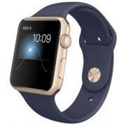 Умные часы Apple Watch Sport 42mm with Sport Band Gold with Midnight Blue (темно-синий)