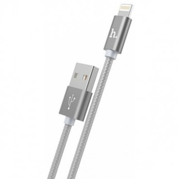 КАБЕЛЬ HOCO X2 KNITTED CHARGING CABLE FOR APPLE (СЕРЫЙ)